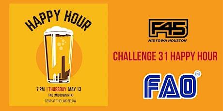 Challenge 31 Happy Hour tickets