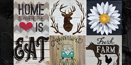 Create Your Own Wood Plank, Paint Night tickets