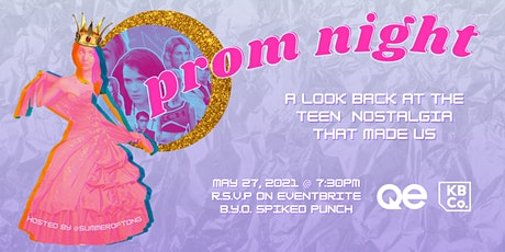 QE Trivia 59: PROM NIGHT - Teen Nostalgia Virtual Pub Quiz tickets