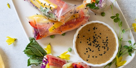 Platewell Vegan Cooking Class l Spring Rolls with Peanut Sauce tickets