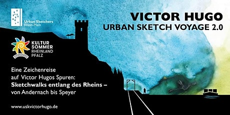 Victor Hugo Urban Sketch Voyage 2.0 | Sketchwalk in Speyer billets