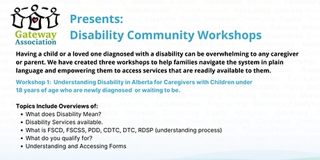 Workshop 1:  Understanding Disability in Alberta tickets