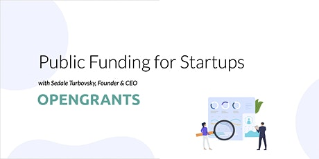 Public Funding for Startups tickets