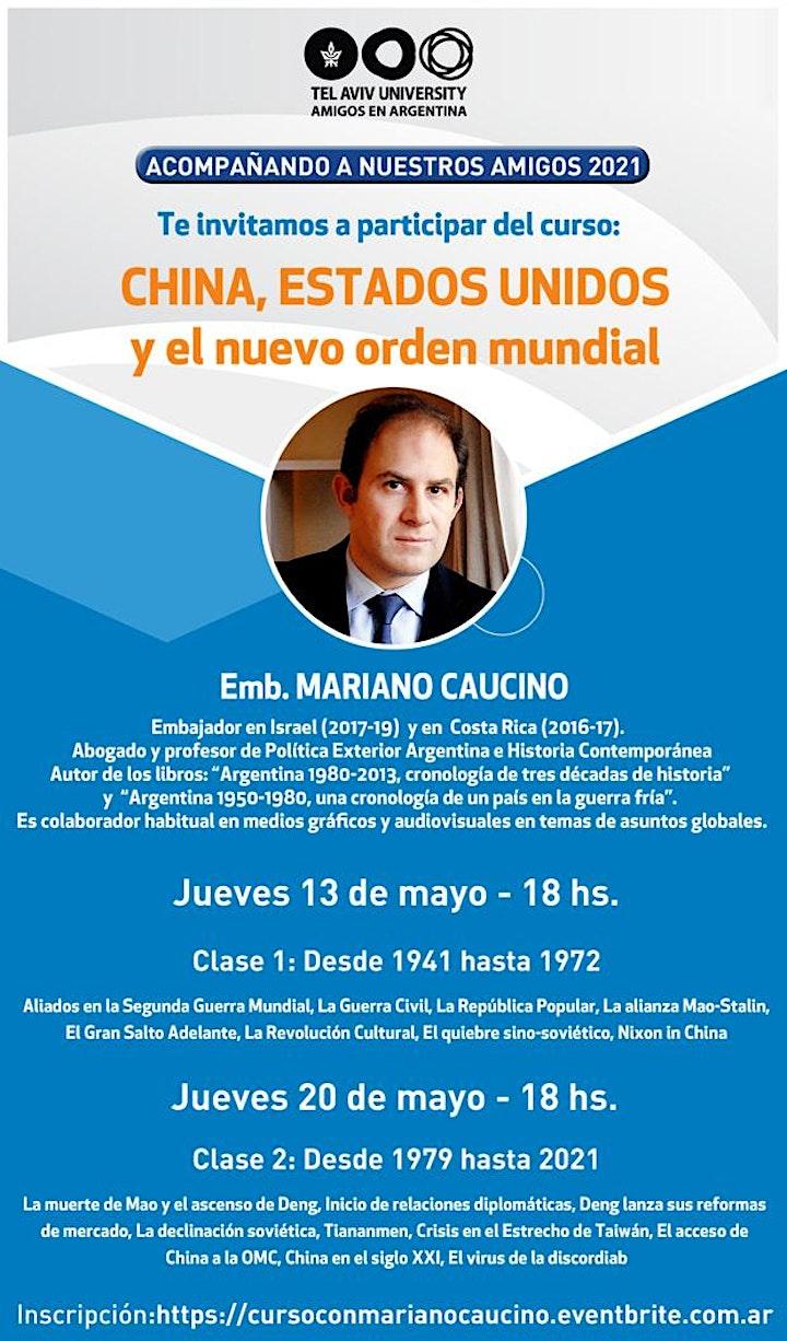 Imagen de CURSO: China, EEUU y el nuevo orden Mundial: Emb. MARIANO CAUCINO