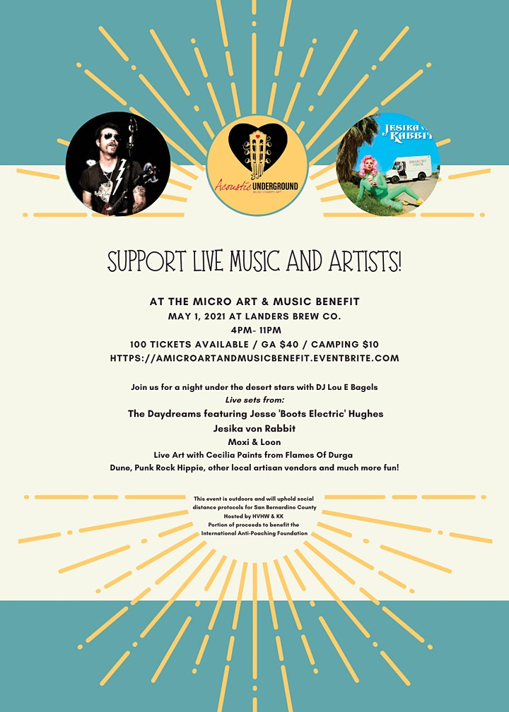 A Micro Art & Music Benefit at Landers Brew Co, Performing Arts Venue image