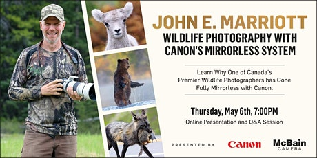 Wildlife Photography with Canon's Mirrorless System tickets