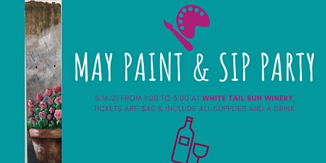 Spring Flower Paint & Wine Event tickets