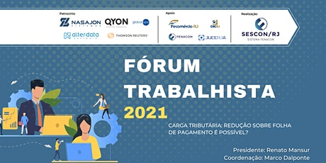 Fórum Trabalhista 2021 - Sescon RJ bilhetes