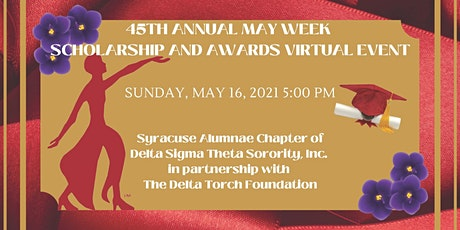 45th Annual May Week Scholarship and Awards Virtual Event tickets