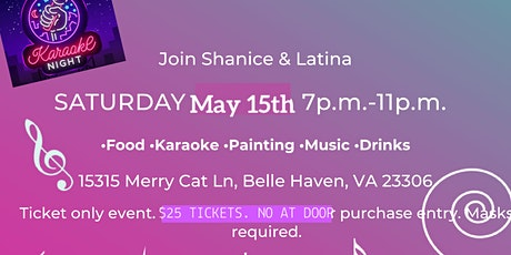 Paint a little bit , Sing a little bit , Sip a little bit tickets