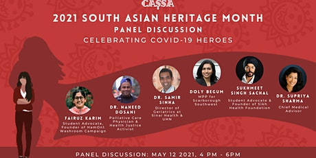 South Asian Heritage Month 2021 -  Panel Discussion tickets