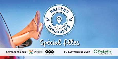 Rallye ExploreVS «Spécial filles» billets