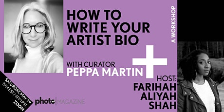 PhotoED Magazine presents: The Artists BIO - Workshop with PEPPA MARTIN tickets