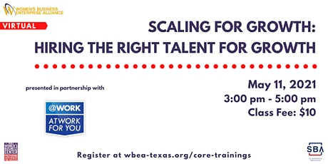 Scaling For Growth: Hiring The Right Talent For Growth tickets