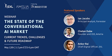 Webinar - The state of the conversational AI market | By EXL and Ameila tickets