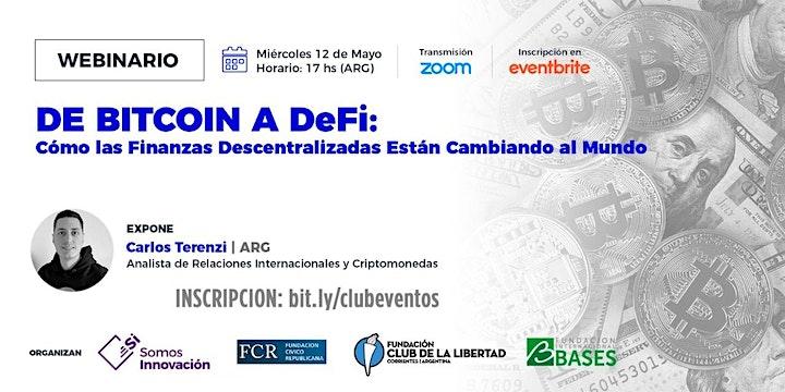 Imagen de CLUB DE LA LIBERTAD - DE BITCOIN A DeFi - Las finanzas descentralizadas