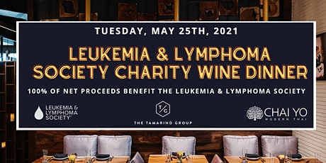Leukemia and Lymphoma Society Charity Wine Dinner at Chai Yo Modern Thai tickets