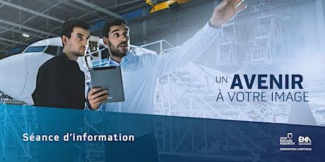 ÉNA : séance d'information virtuelle AEC aéronautiques 2021-2022 billets