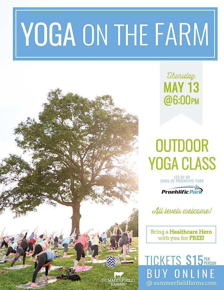 Yoga on The Farm (bring a Healthcare Hero!) image