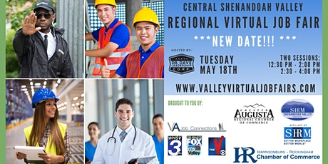 Central Shenandoah Valley REGIONAL Virtual Job Fair (JOB SEEKERS) tickets