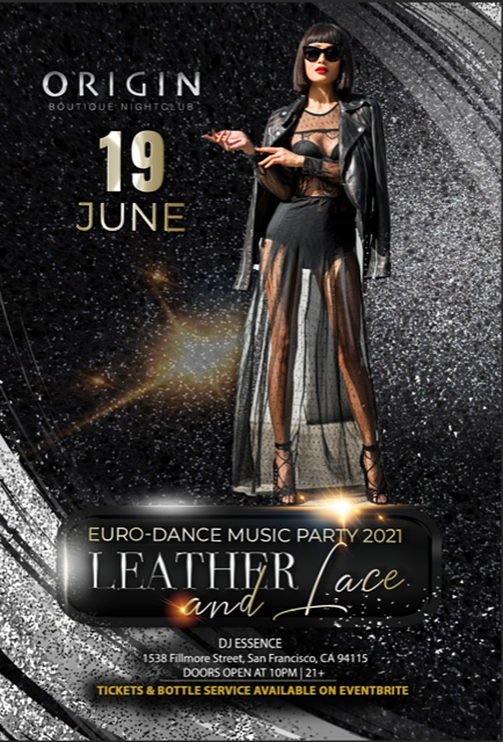 Leather & Lace Euro-Affair is postponed to Saturday, June 19th image