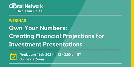 Own Your Numbers: Financial Projections for Investment Presentations tickets