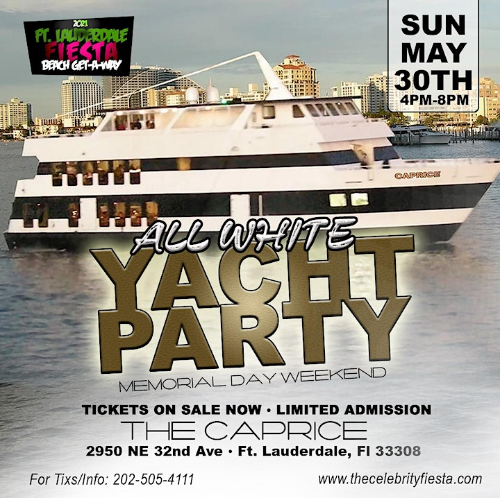 All White Yacht Party image