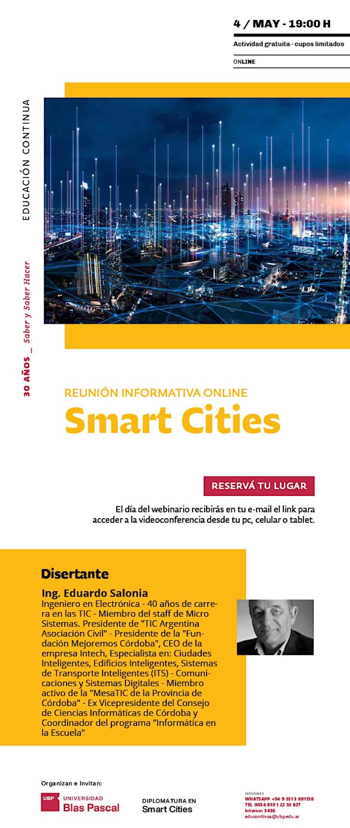 Imagen de Webinario> Reunión Informativa Smart Cities