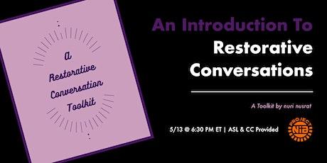 "Introducing ""A Restorative Conversation Toolkit"" tickets"