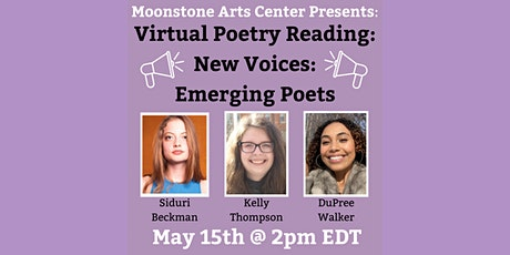 Virtual Poetry Reading: New Voices – Emerging Poets tickets