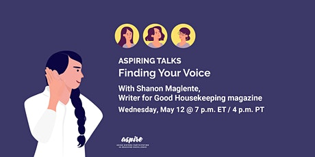 ASPIRING TALKS: Finding Your Voice with Shanon Maglente tickets