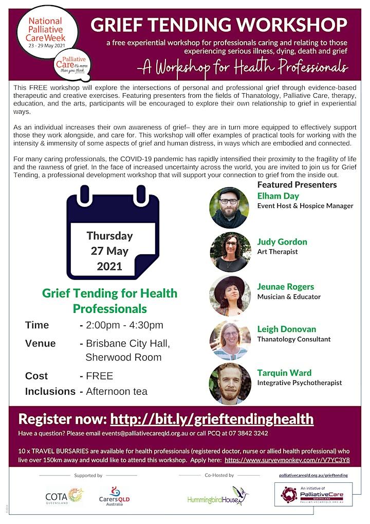 Grief Tending Workshop for Health Professionals image
