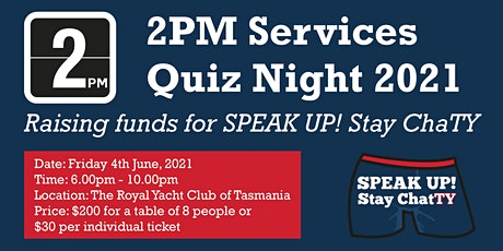 2PM's Fundraising Quiz Night tickets