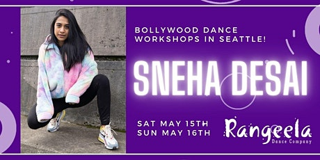 Sneha Desai Bollywood Workshops in Seattle! tickets