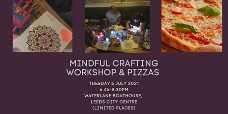 Mindful crafting workshop, notebook making & pizzas - Leeds city centre tickets
