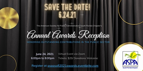 ASPA SoFL 2021 Annual Awards Reception tickets