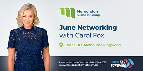 MBG Presents Carol Fox  - Seated  Two Course Meal & Complimentary Drink tickets