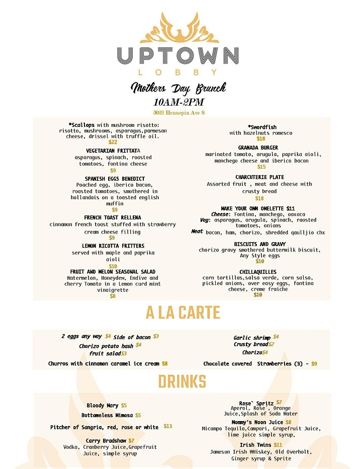 Mothers Day Brunch At Uptown Lobby in the Granada Theater image