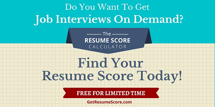 """Resume Score Maximizer"" — Do You Know Your Resume Score? — Dublin image"