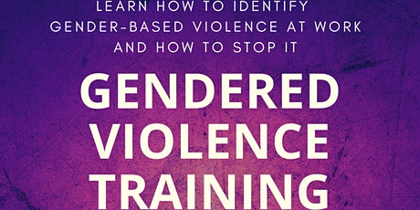 Gender based violence training opportunity tickets