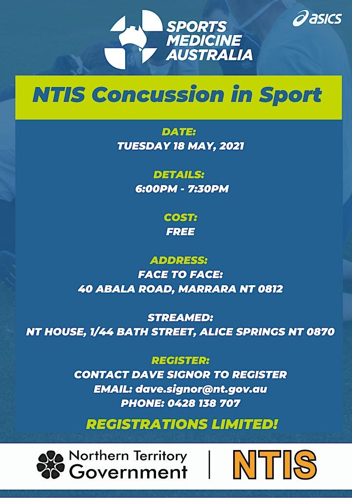 NTIS Concussion in Sport Workshop - presented by Sports Medicine Australia image