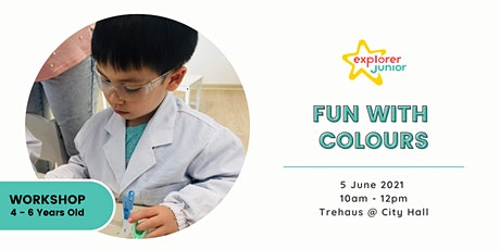 STEAM Discovery Workshop - Fun with Colours (Trehaus, City Hall) tickets