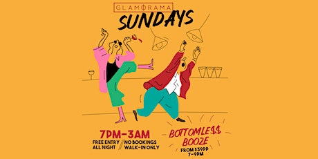 Bottomless Booze @ Glam Sundays tickets