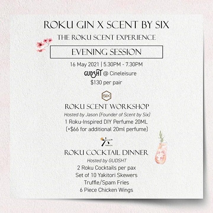 Roku Gin x Scent by Six - The Roku Scent Experience (Evening Session) image