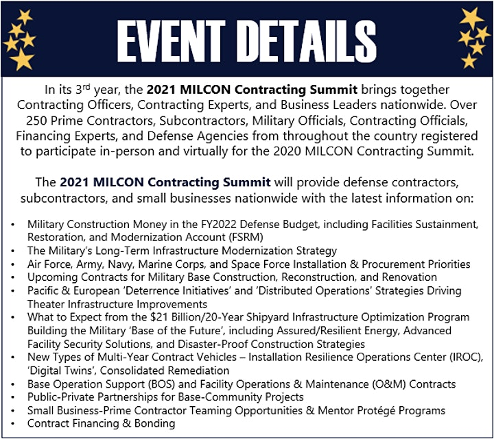2021 MILCON Contracting Summit image