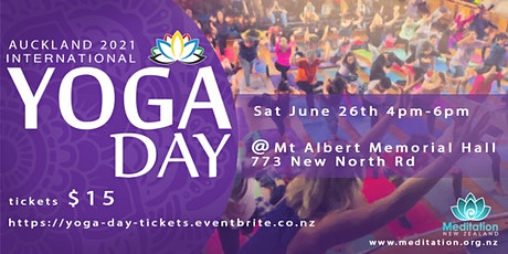 Auckland International YOGA DAY 2021 tickets