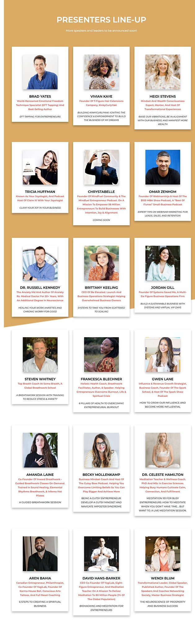 [Online] RELOAD Conference + Retreat For Entrepreneurs & Business Owners image