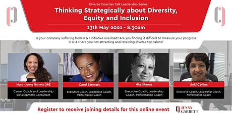 Thinking Strategically about Diversity, Equity and Inclusion bilhetes