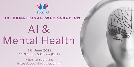 International Workshop on AI and Mental Health tickets