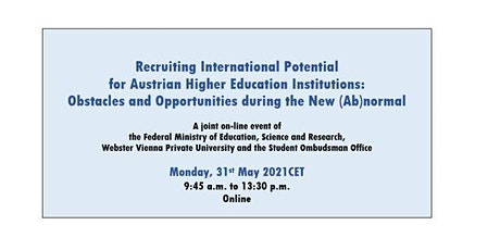 Recruiting International Potential : Obstacles and Opportunities tickets